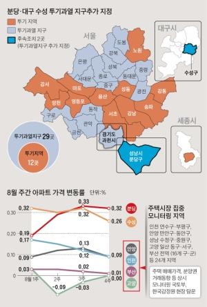 8·2대책 풍선효과 차단, 일산·평촌도 투기과열지구 후보